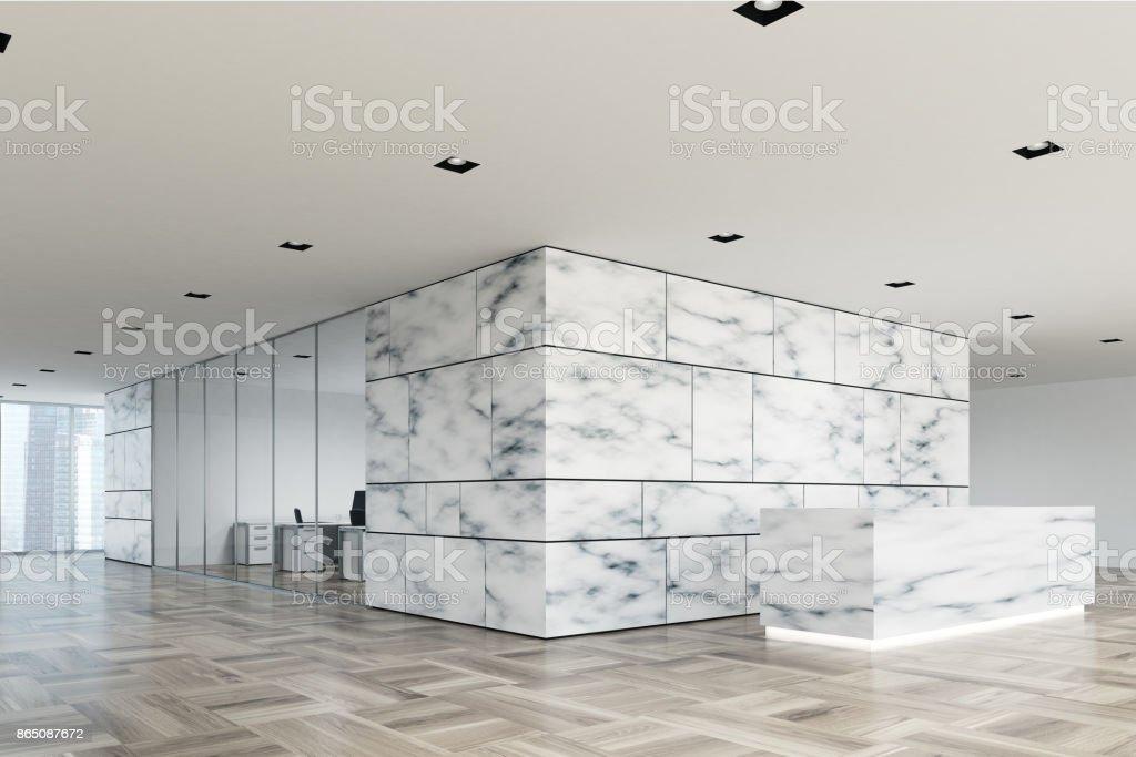 Marmor Und Glasrezeptionlobbyseite Stock-Fotografie und mehr Bilder ...