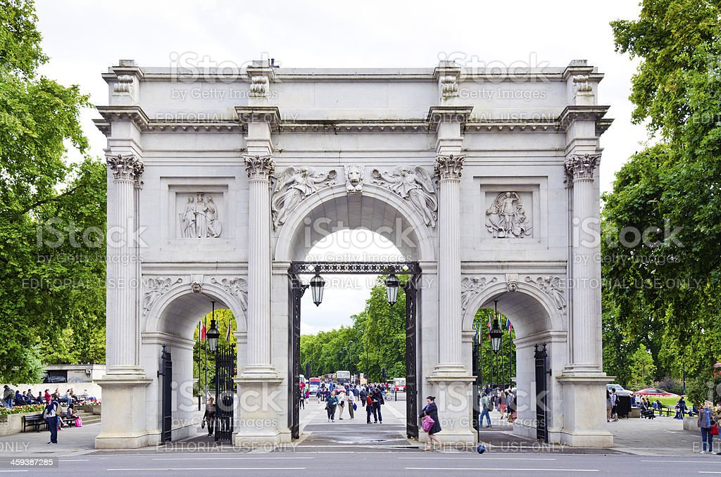 Marble Arch At Hyde Park In London England Stock Photo