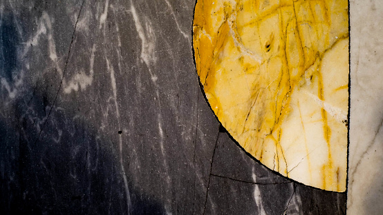 marble background.  Italy Rome Church of San Pietro