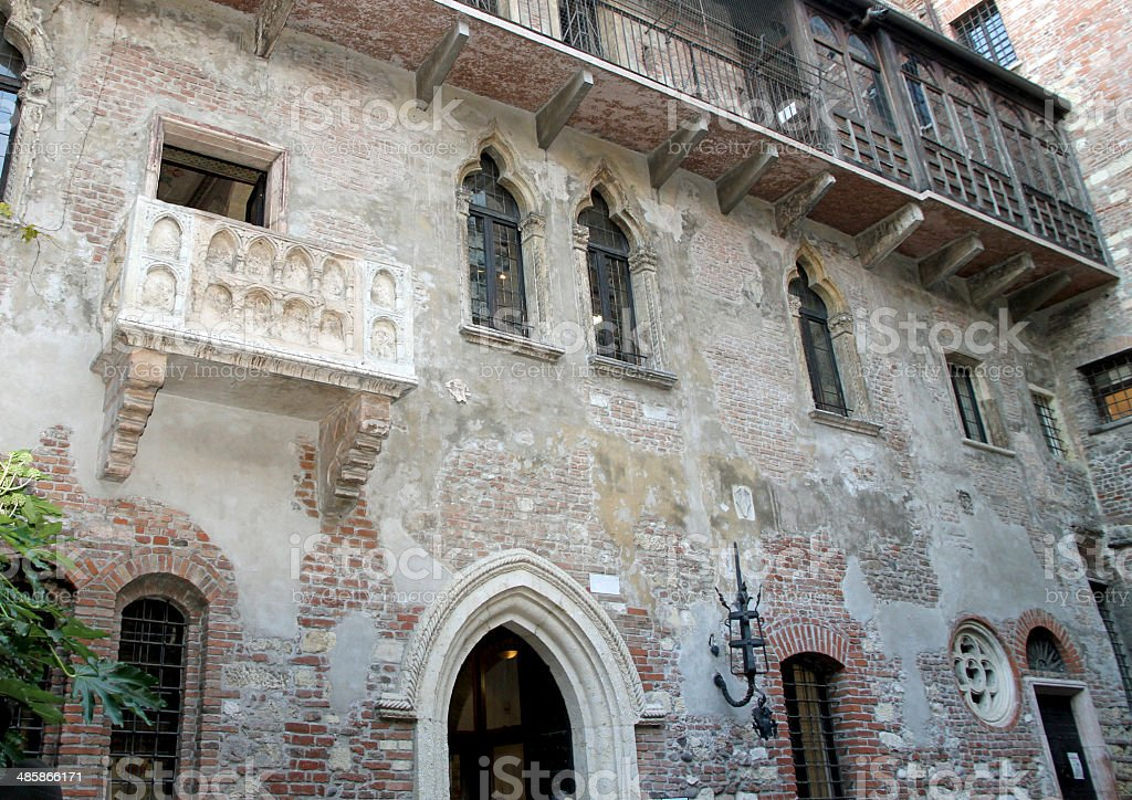 Marble Balcony Of Juliets House In Verona Stock Photo Download Image Now Istock