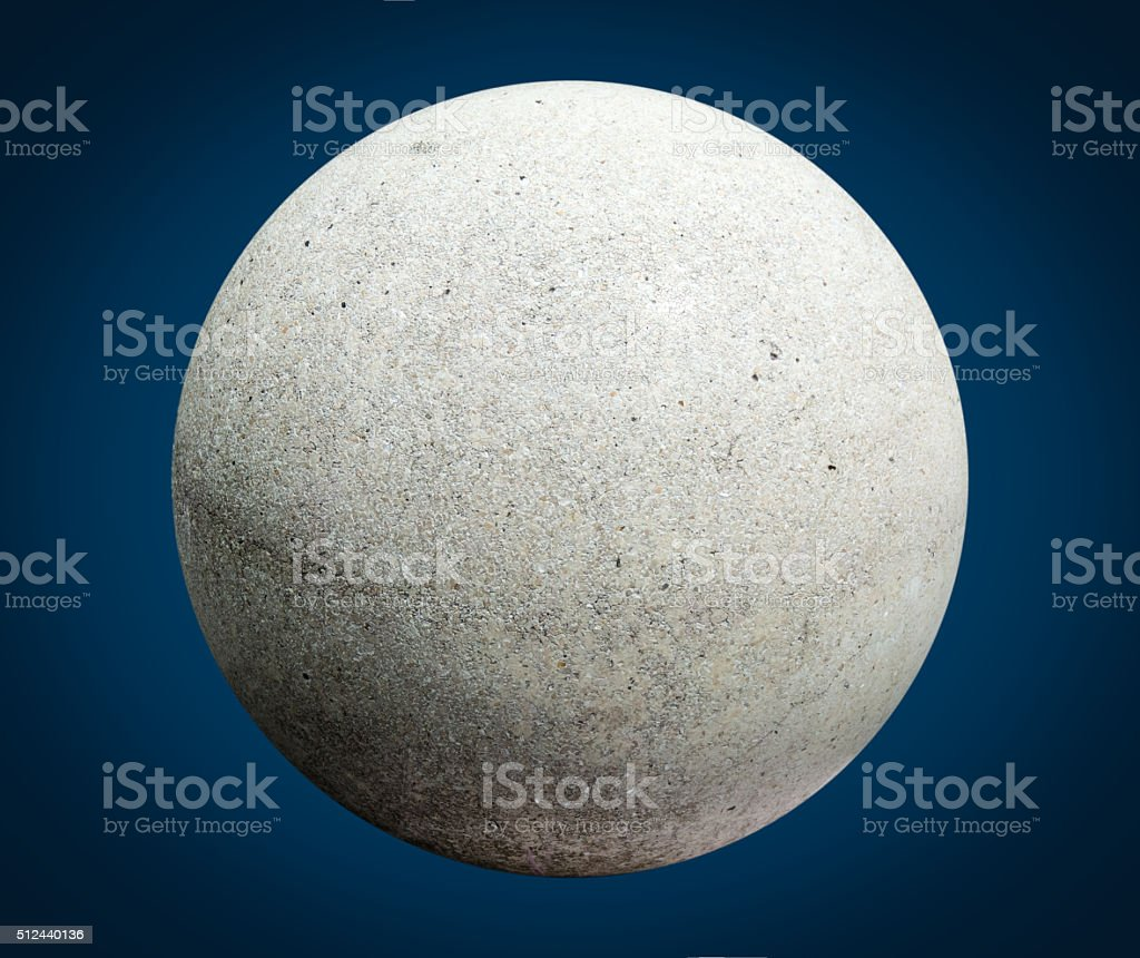 Marble ball looks like planet stock photo