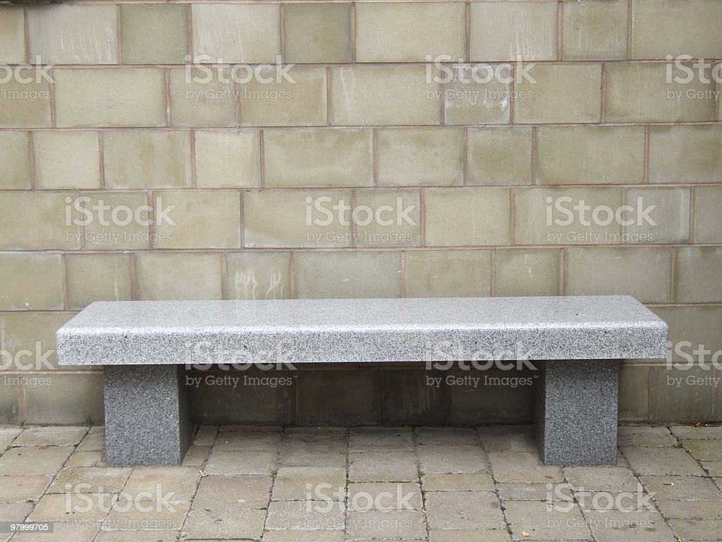 Marble Bench royalty-free stock photo