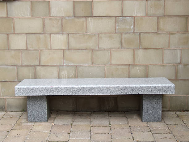 Marble Bench stock photo
