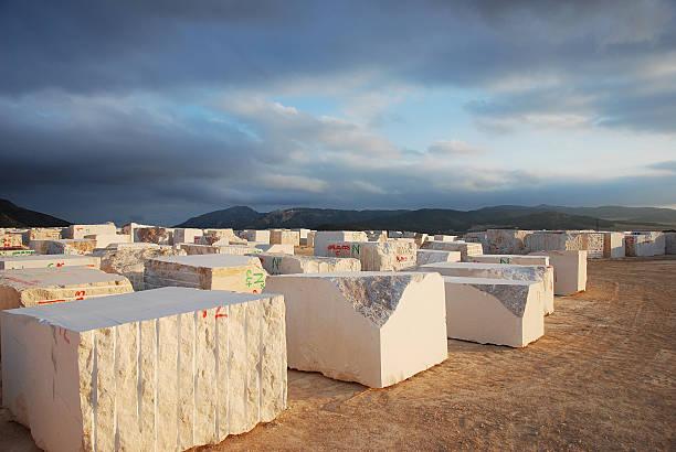 Blocs de soleil en marbre soirée - Photo