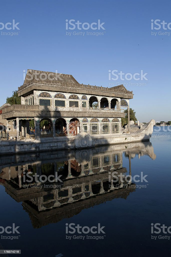Marble Boat royalty-free stock photo