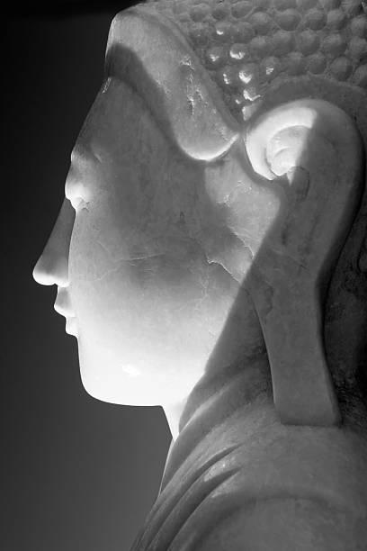 Marble Buddha stock photo