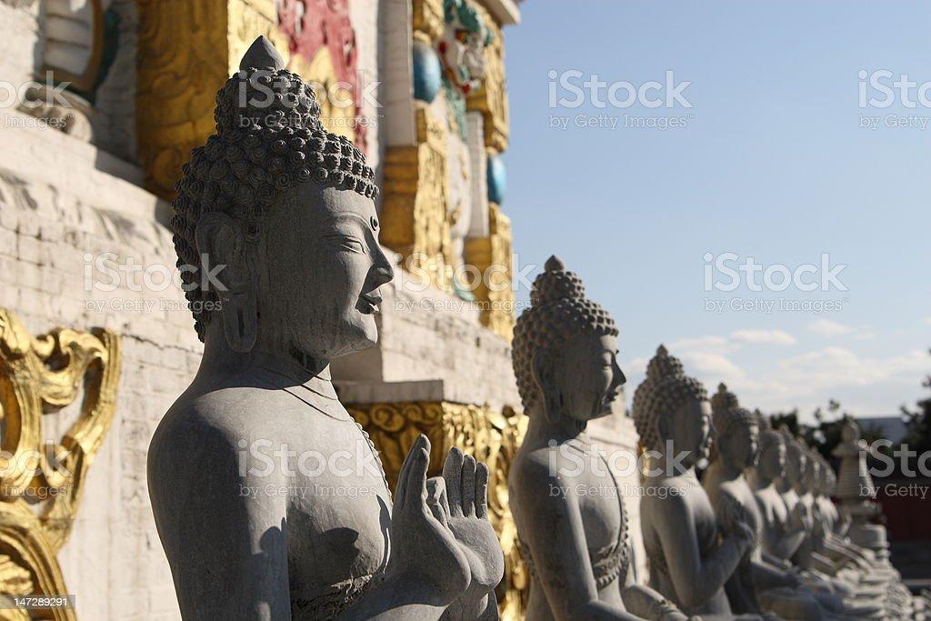 marble buddha statue stock photo