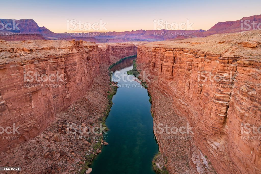 Marble Canyon and Colorado River in Arizona USA stock photo