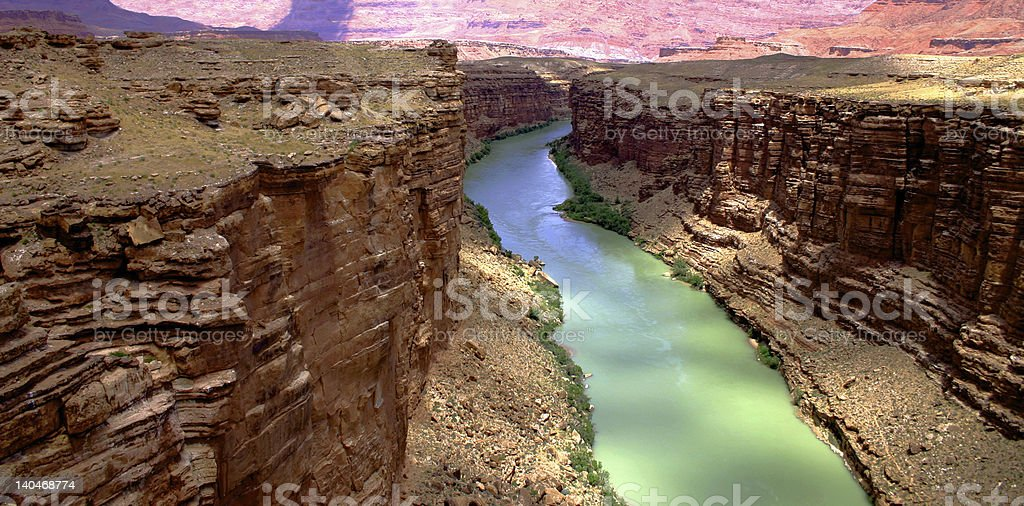 Marble Canyon - Colorado River stock photo
