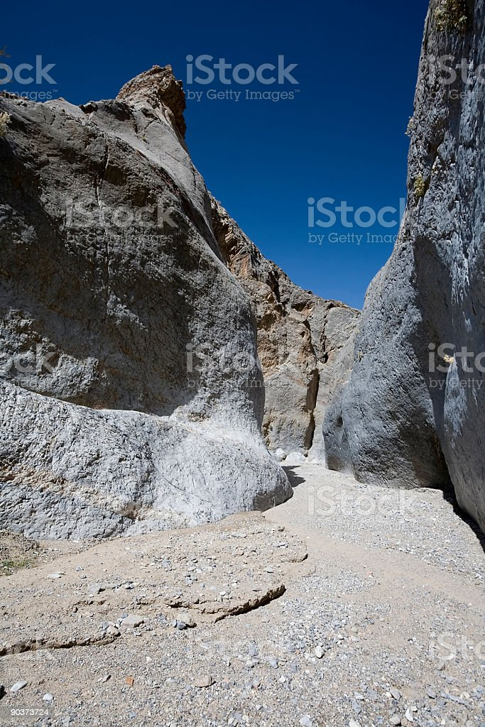 Marble Canyon in Death Valley stock photo