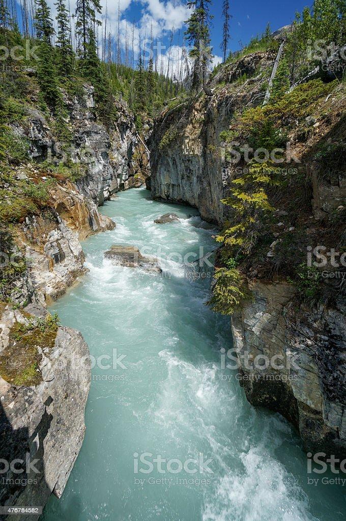 Marble Canyon in Kootenay National Park stock photo