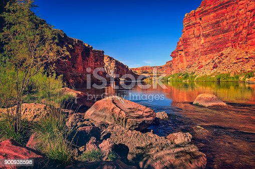 Cathedral Wash Trail in Marble Canyon, Arizona. Beautiful view through the trail which leads to Colorado River.
