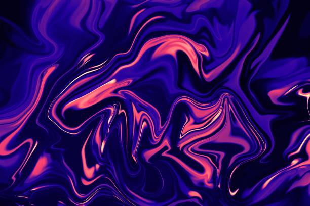 大理石五顏六色的霓虹燈珊瑚粉紅海軍藍色超紫羅蘭紫色大理石紋理在黑色背景摘要 es毛多彩色漸變圖案時尚 - 霓虹色 個照片及圖片檔