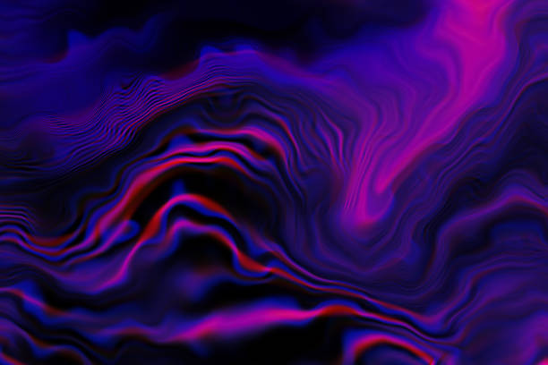 marble colorful neon wave pattern prism glitch effekt abstract background dark purple blue pink red red black gradient marbled texture - rosa lampe stock-fotos und bilder