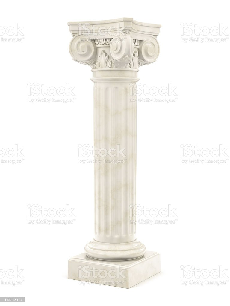 marble column isolated stock photo