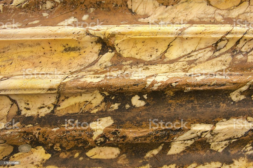 marble column. Ruins of the Forum in Rome royalty-free stock photo