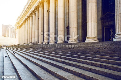 istock Marble columns, and stairs, New York 933003688
