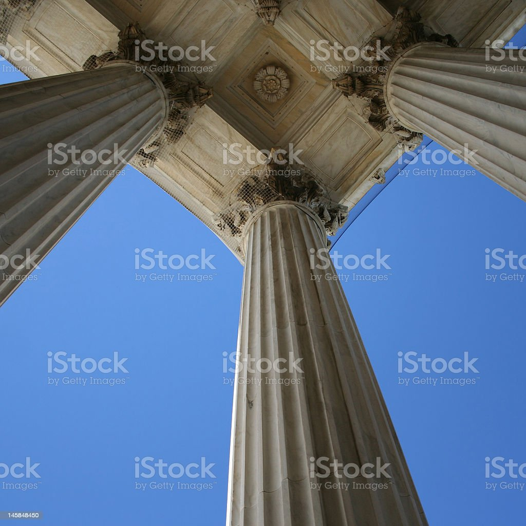 marble columns at Supreme court stock photo