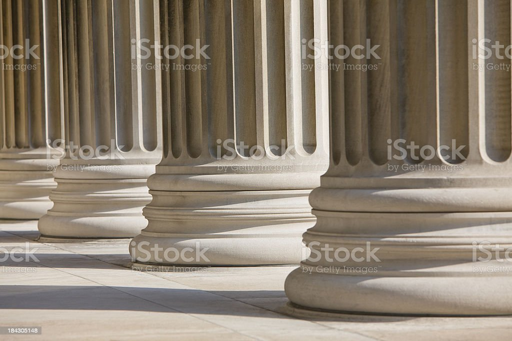 Marble Columns Horizontal royalty-free stock photo