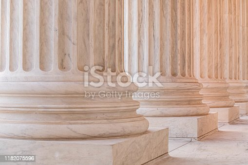 istock Marble Columns on the US Supreme Court Building 1182075596