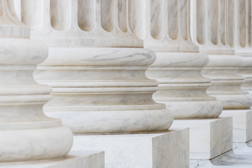 istock Marble Columns on the US Supreme Court Building 687340930