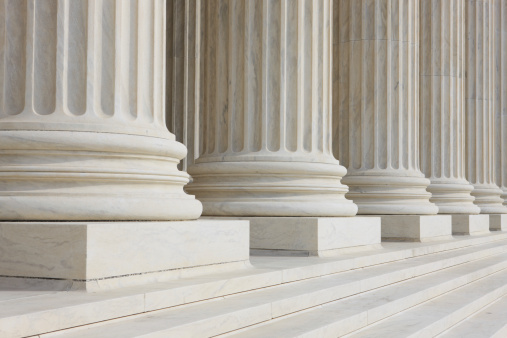 Classical Greek style columns