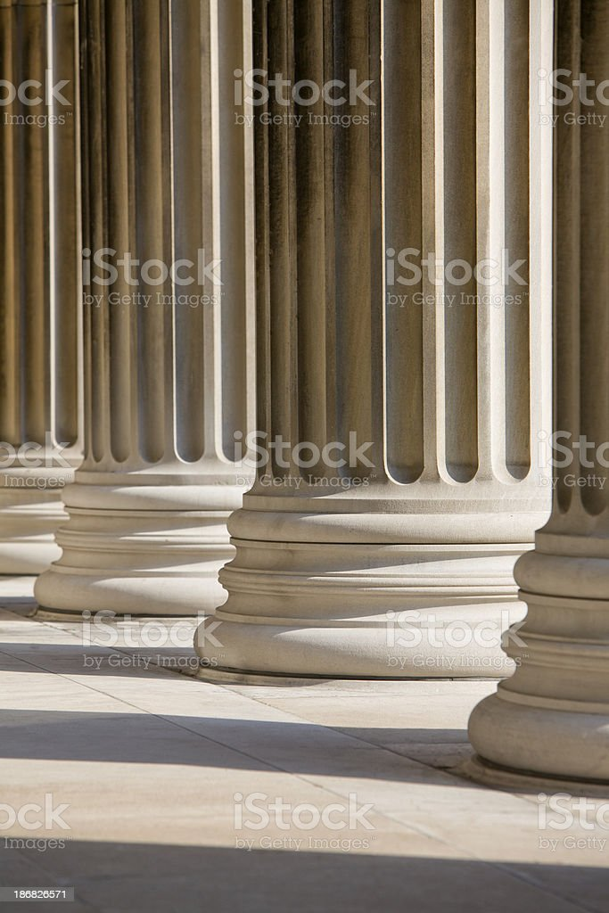 Marble Columns Vertical royalty-free stock photo