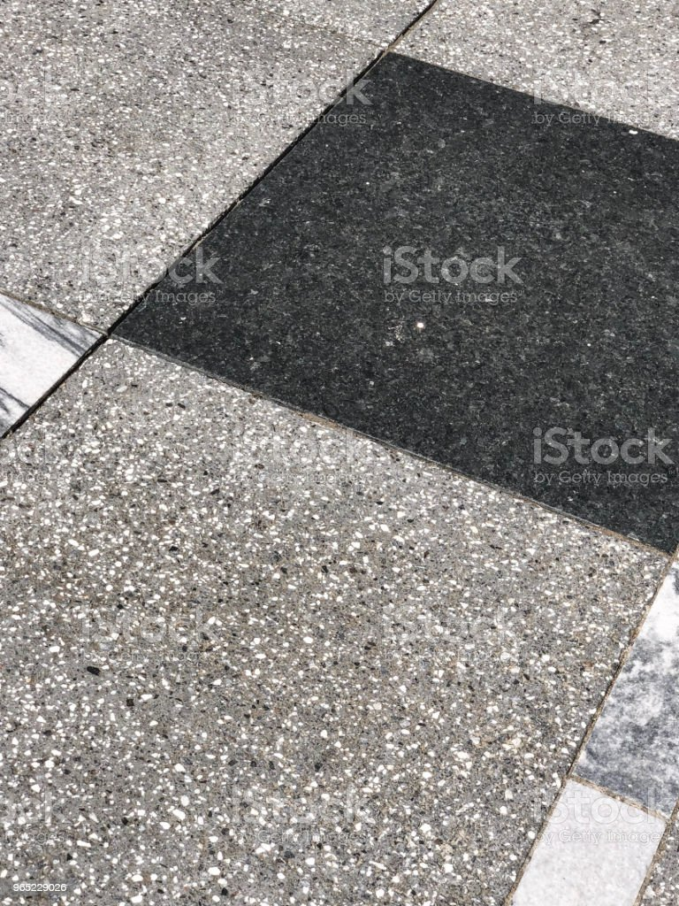 Marble Concrete Sidewalk Design Stock Photo - Download Image