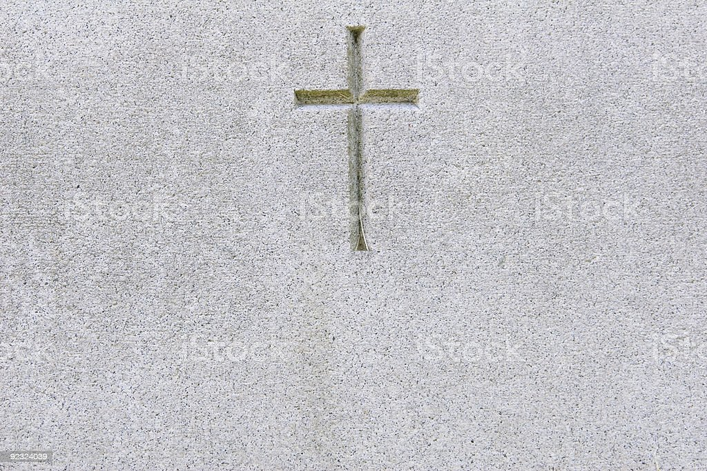Marble & Cross stock photo