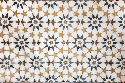 Marble decorations on the walls of The Tomb of I'timad-ud-Daulah or Baby Taj.