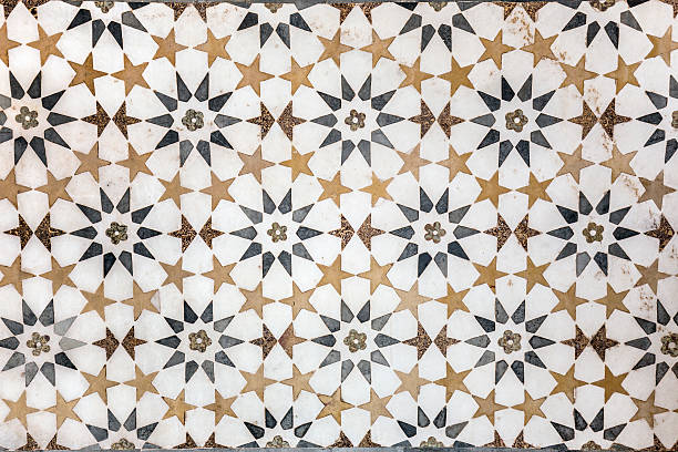 Marble decoration Marble decorations on the walls of The Tomb of I'timad-ud-Daulah or Baby Taj. arabic style stock pictures, royalty-free photos & images