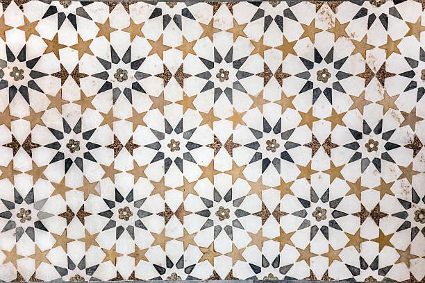 marmor-dekoration - arabeske stock-fotos und bilder