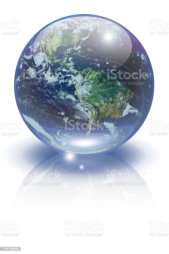 Marble Earth stock photo