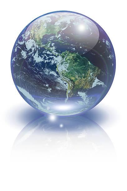Marble Earth stock photo