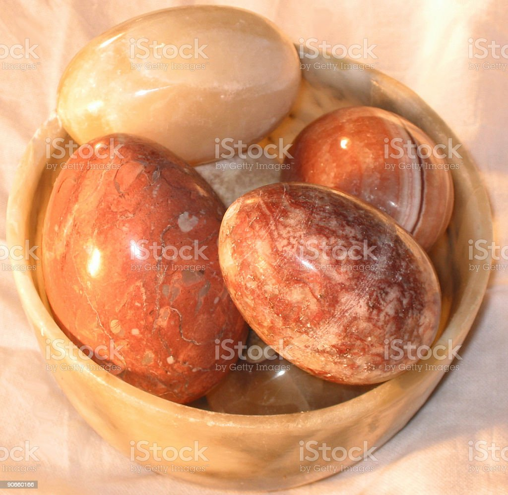 Marble Eggs royalty-free stock photo