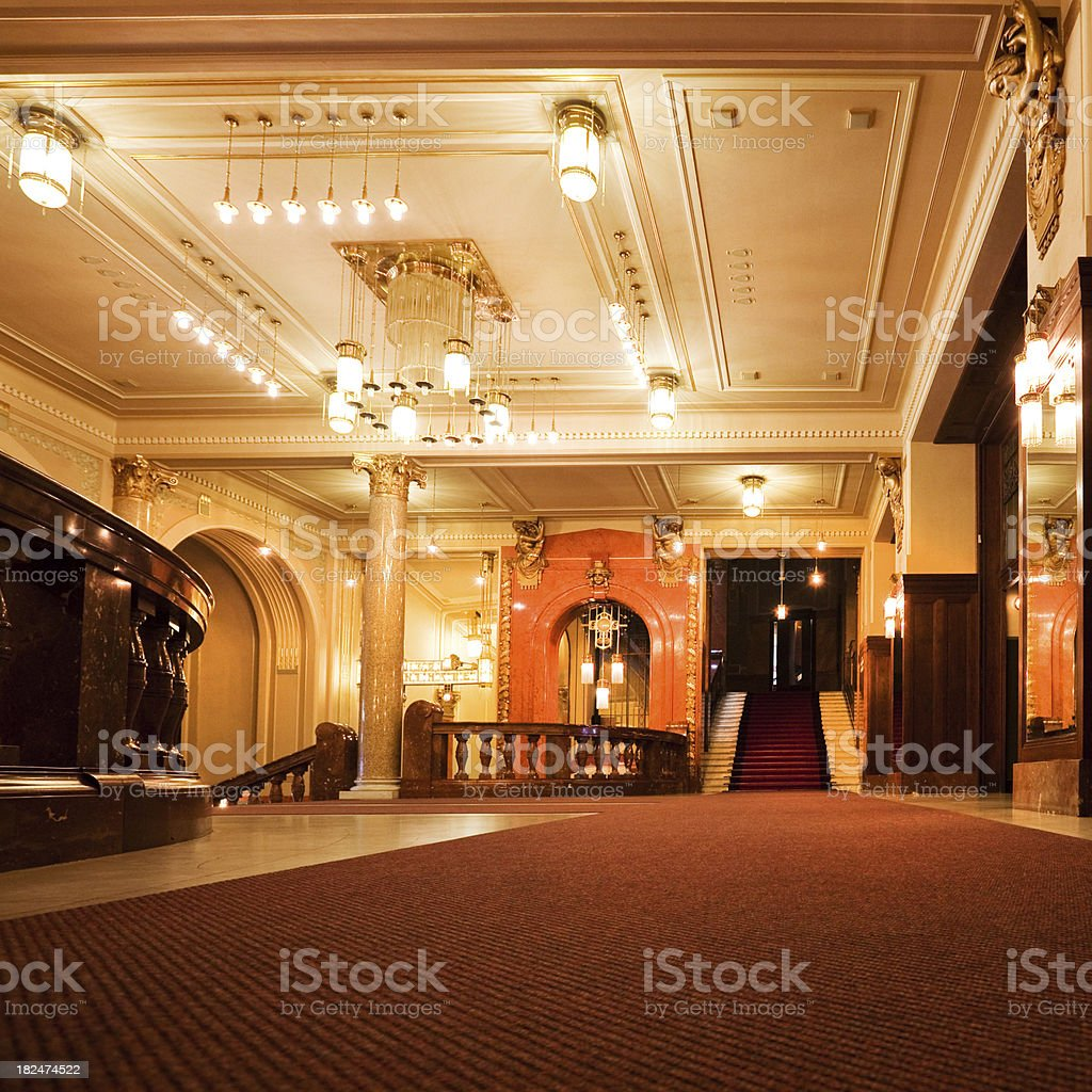 Marble Entrance Hall stock photo