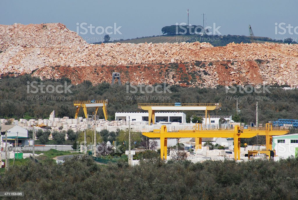 Marble factory in Portugal stock photo