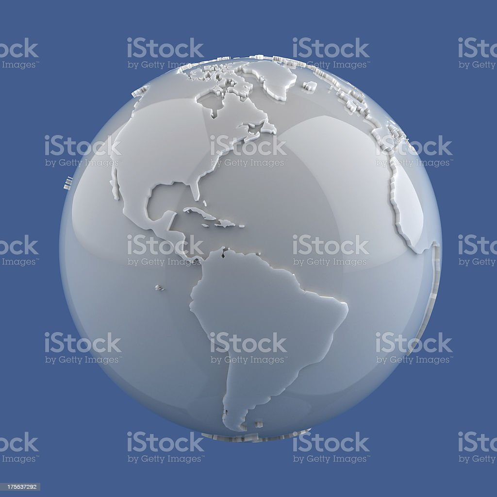 Marble Globe - Americas stock photo