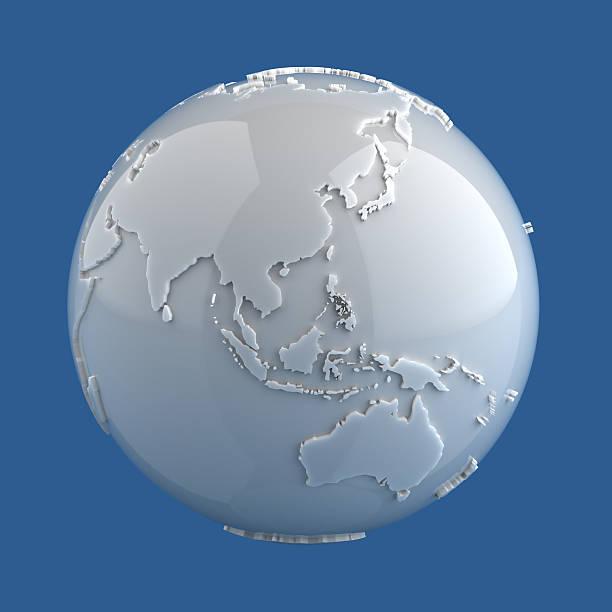Marble Globe - Asia stock photo