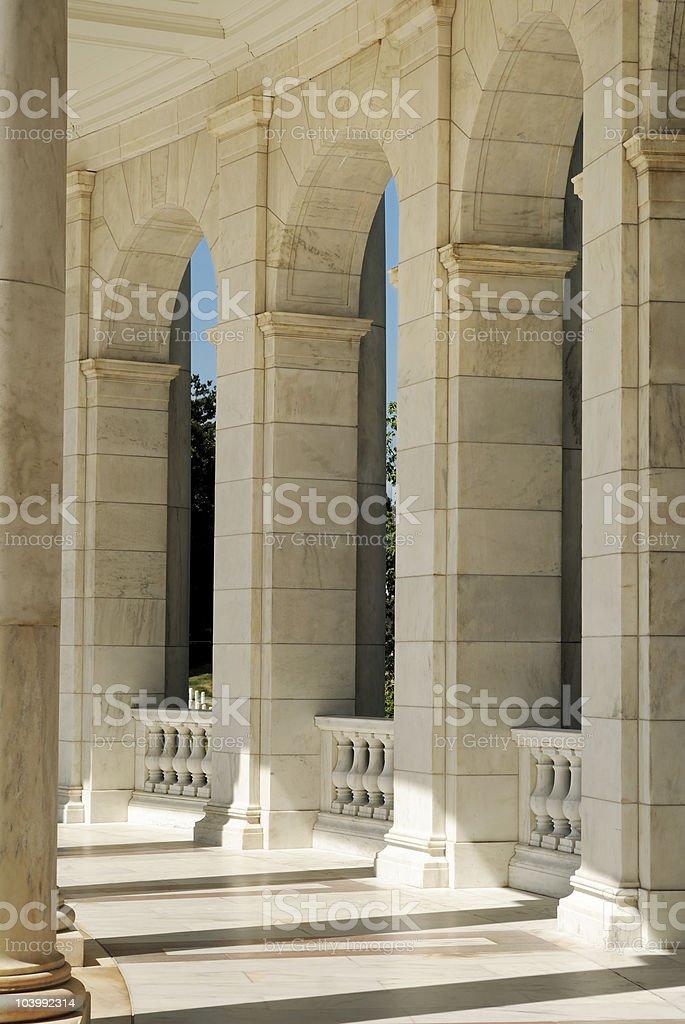 Marble hallway stock photo