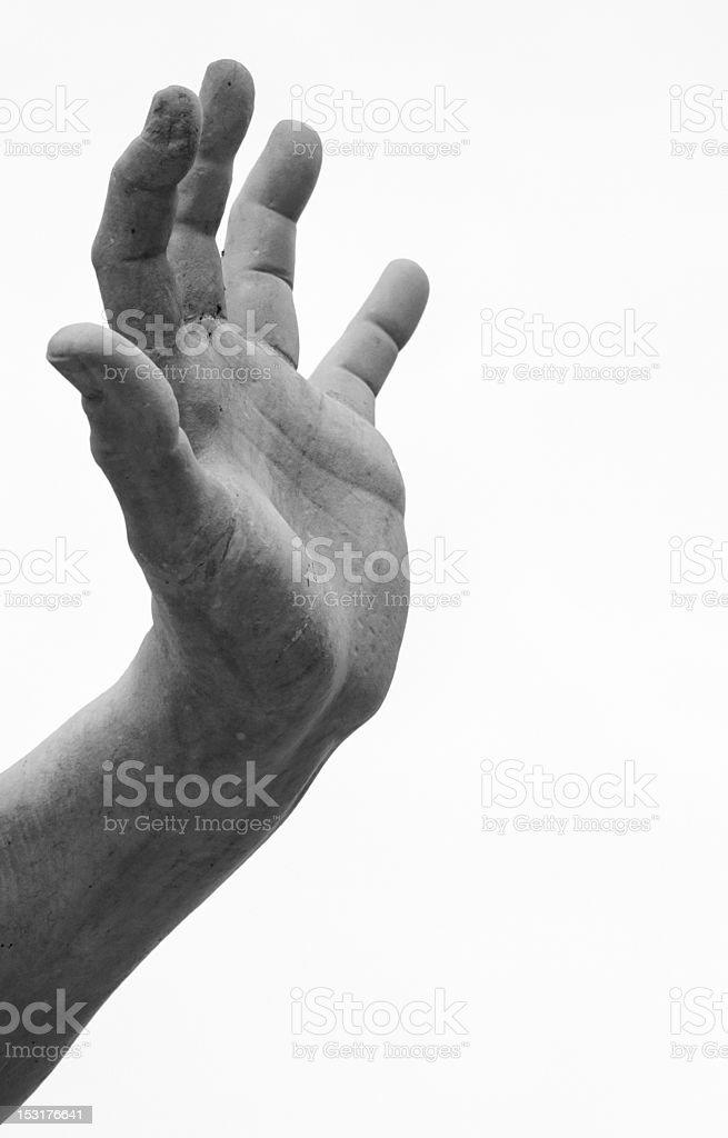 Mão de mármore projetado por Bernini, na Piazza Navona. - foto de acervo