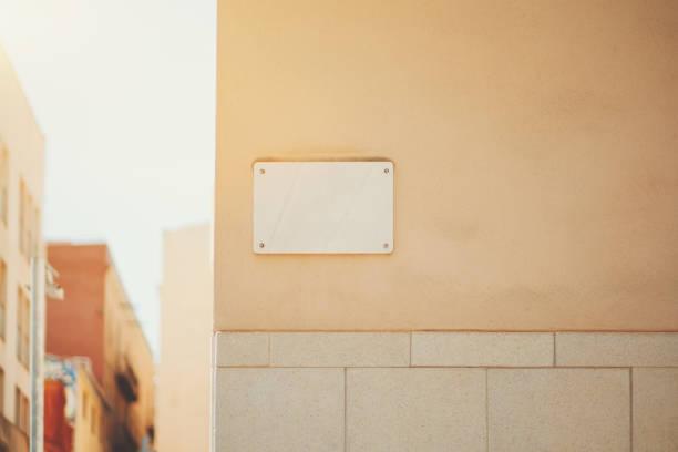 Marble house nameplate mock up - foto de stock
