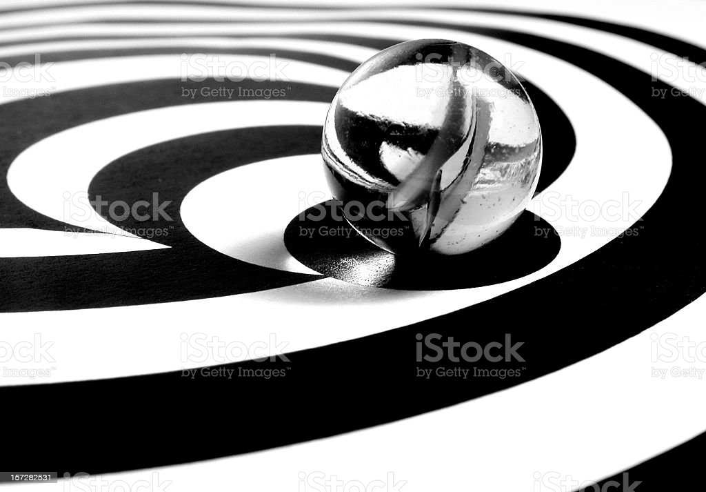 Marble in Black and White 3 royalty-free stock photo