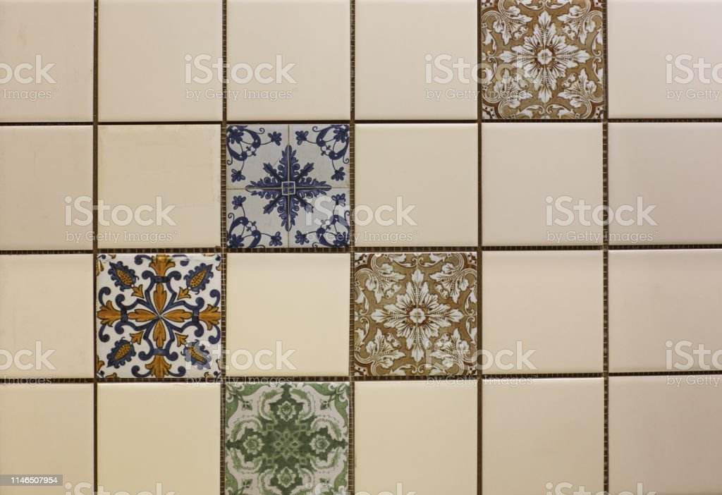 Marble Kitchen Wall Tile With Abstract Mosaic Geometric Pattern Vintage Paper Texture Stock Photo Download Image Now Istock