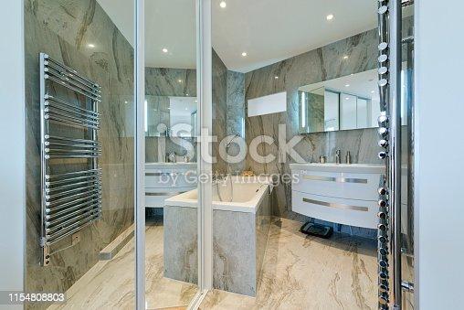 Marble luxury bathroom.