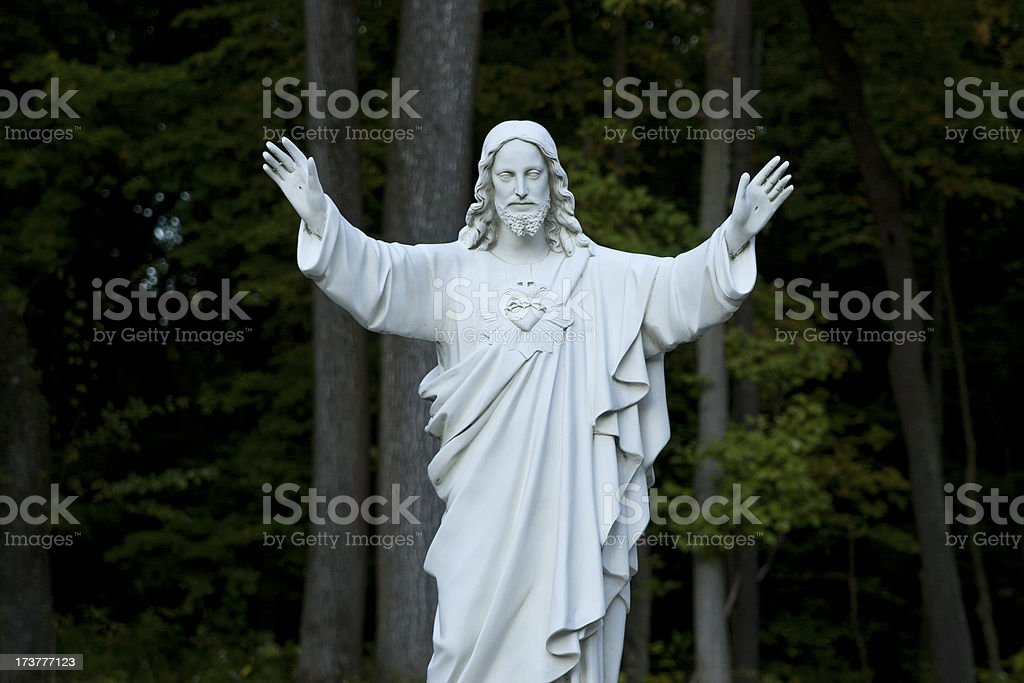 Marble monument sculpture of Jesus royalty-free stock photo