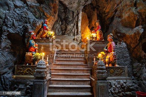 marble mountain Pagoda at Danang city Vietnam