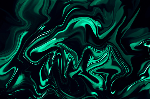 Marble Neon Luxury Mint Green Abstract Texture On Black