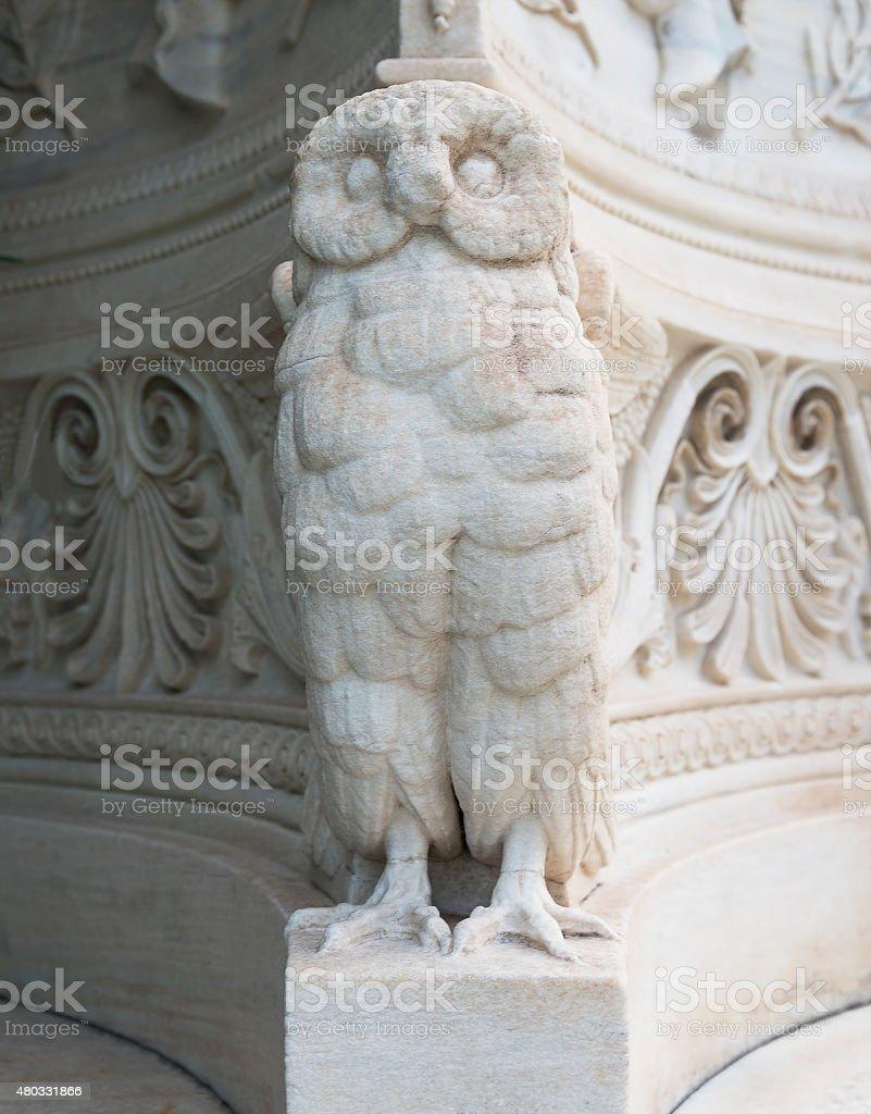 marble owl stock photo
