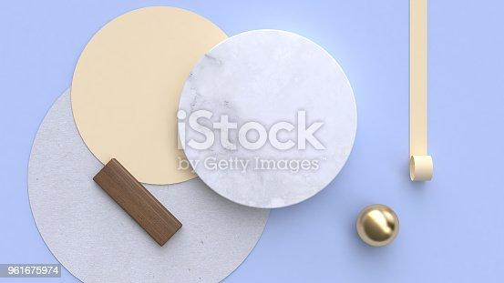 istock marble paper flat lay background geometric shape minimal 3d rendering 961675974